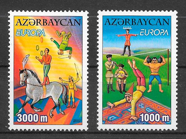 sellos Europa Azerbaiyan 2002