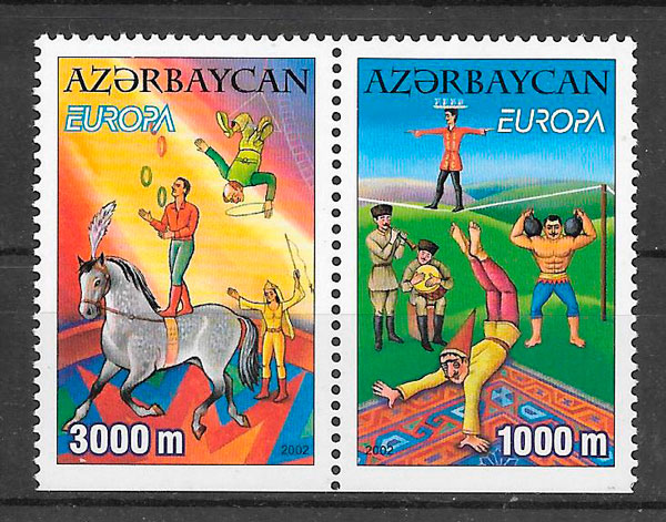 filatelia Europa Azerbaiyan 2002