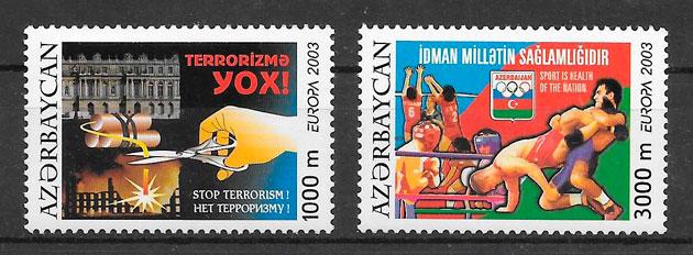 filatelia Europa Azerbaiyan 2003
