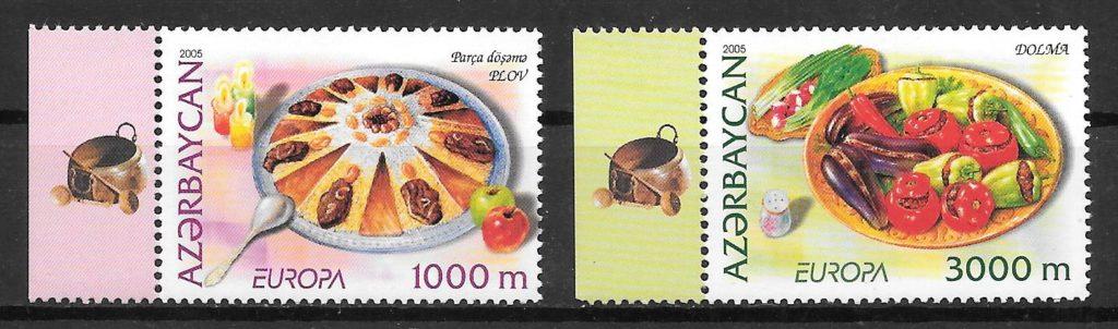 filatelia coleccion Europa Azerbaiyan 2005