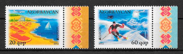 coleccion sellos Europa Azerbaiyan 2012