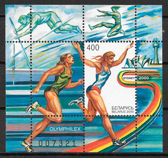 filatelia olimpiadas Bielorrusia 2000
