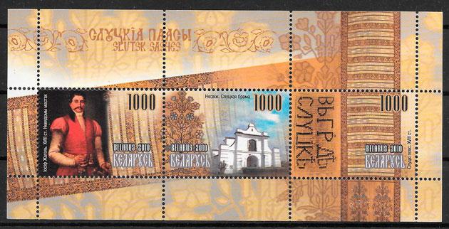 colección sellos pintura Bielorrusia 2010