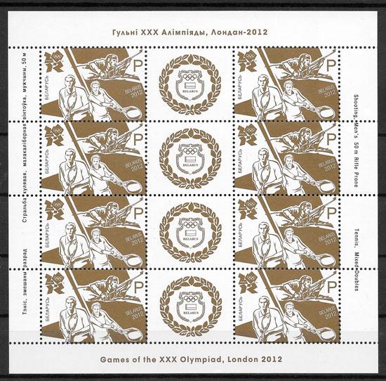 colección olimpiadas Bielorrusia 2012