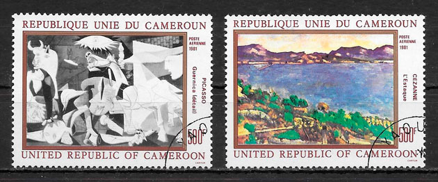 sellos pintura Camerún 1981