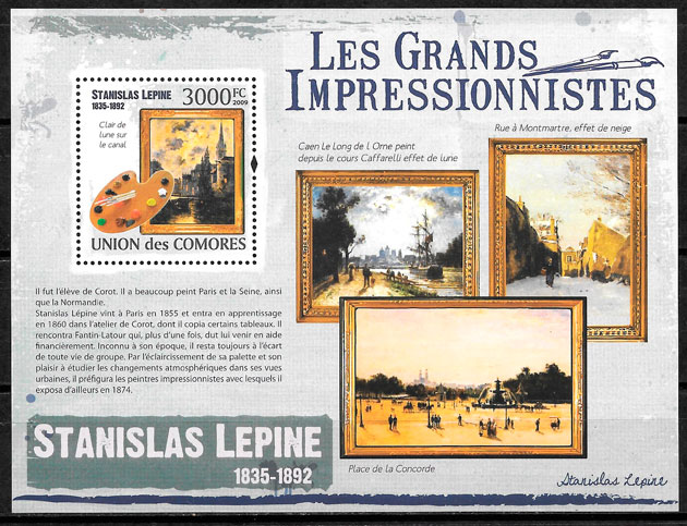 colección selos pintura Comores 2009