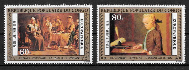 sellos pintura congo 1976