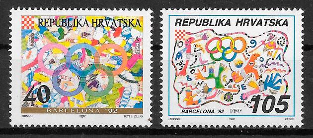 sellos olimpiadas Croacia 1992