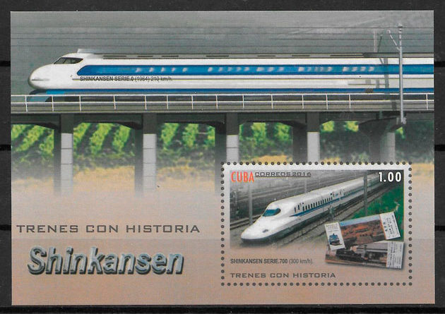 filatelia trenes Cuba 2016