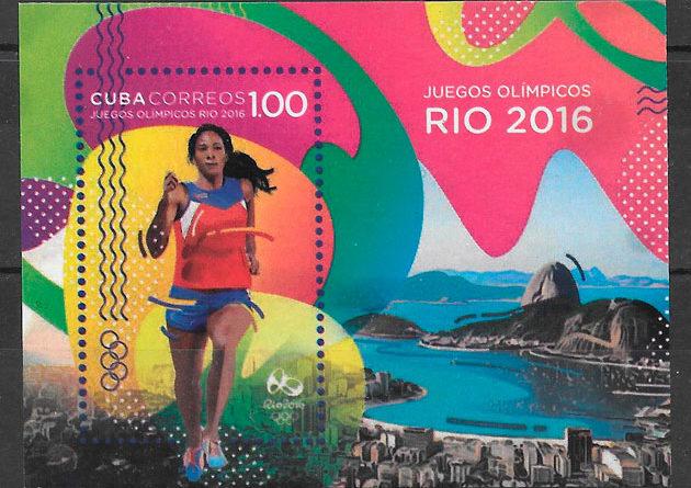 colección sellos olimpiadas Cuba 2016