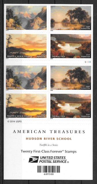 filatelia colección pintura USA 2014