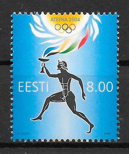 sellos olimpiadas Estonia 2004