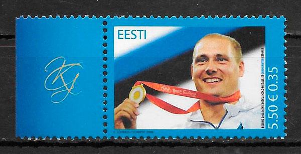 sellos olimpiadas Estonia 2008