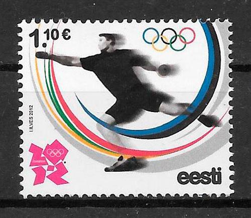 sellos olimpiadas Estonia 2012