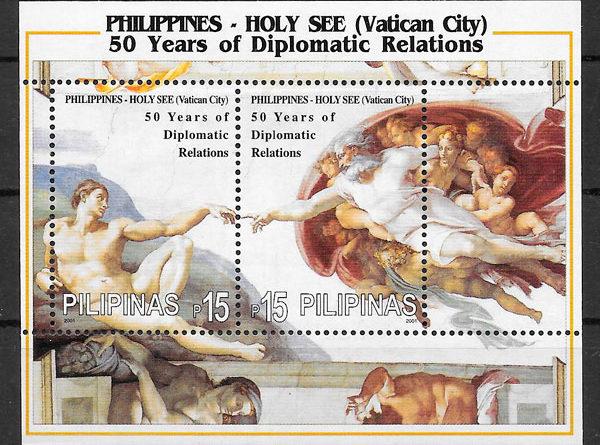 filatelia pintura Filipinas 2001