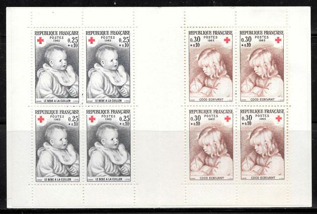 colección sellos cruz roja Francia 1965