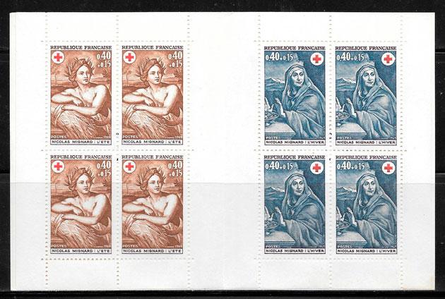 sellos cruz roja Francia 1969