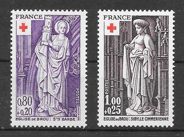 filatelia colección cruz roja Francia 1976