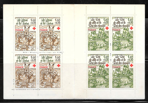 colección sellos cruz roja Francia 1978