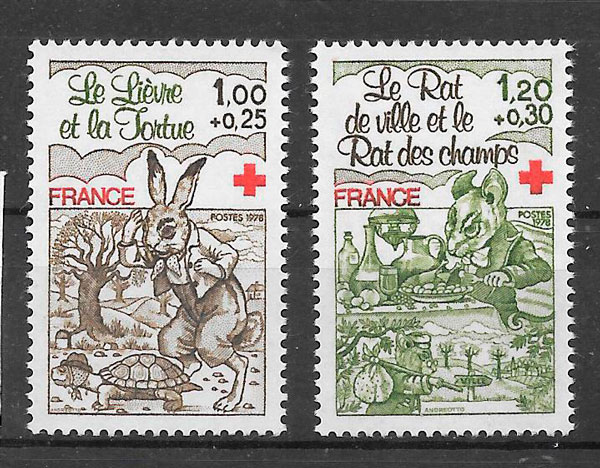 filatelia colección cruz roja Francia 1978