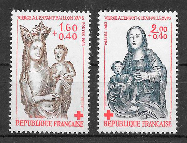 filatelia cruz roja Francia 1983