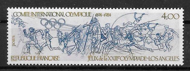 filatelia olimpiadas Francia 1984
