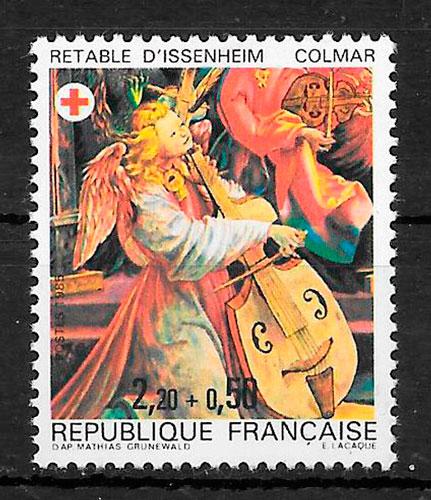 filatelia cruz roja Francia 1985