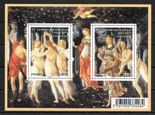 sellos pinturas Francia 2010