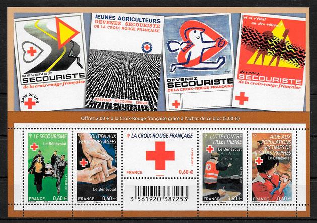 filatelia colección cruz roja Francia 2011