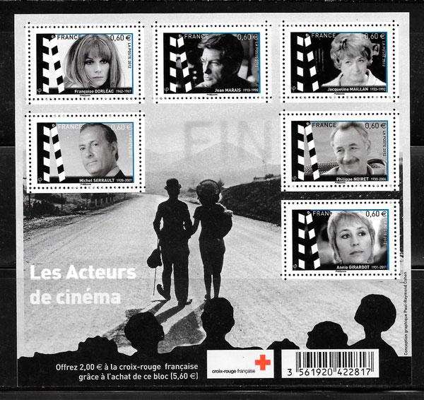 filatelia cruz roja Francia 2012