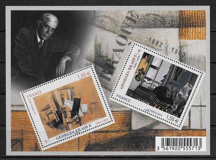 sellos pinturas Francia 2013