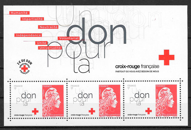 sellos cruz roja Francia 2018