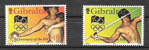 filatelia olimpiadas Gibraltar 1994