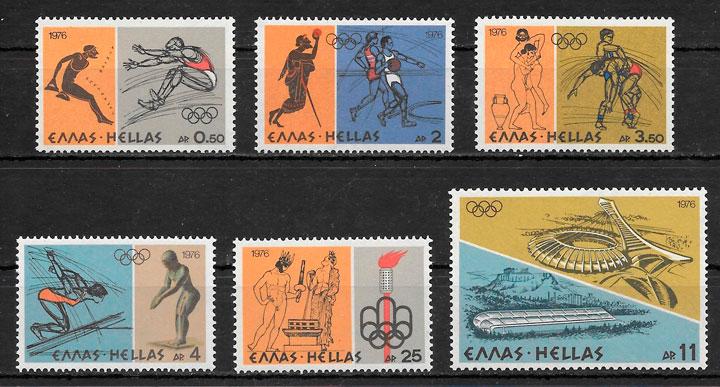 sellos olimpiadas Grecia 1976