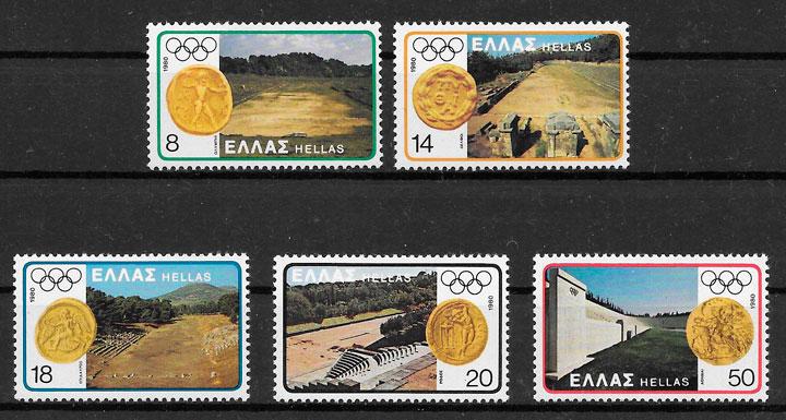 sellos olimpiadas Grecia 1980