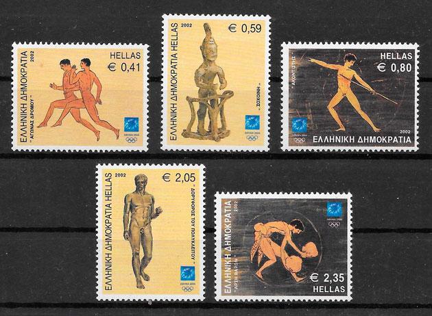filatelia colección olimpiadas Grecia 2002