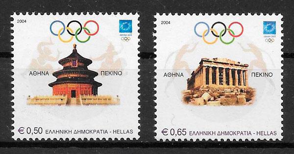 filatelia colección olimpiadas Grecia 2004