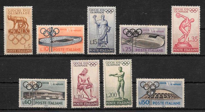 colección selos olimpiadas Italia 1960