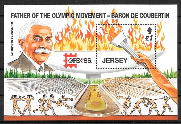 colección sellos olimpiadas Jersey 1996