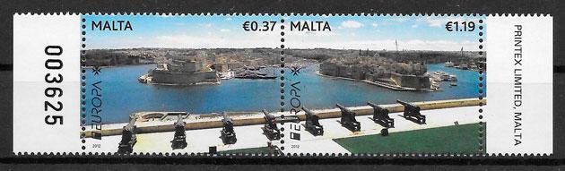 colección sellos Europa Malta 2012