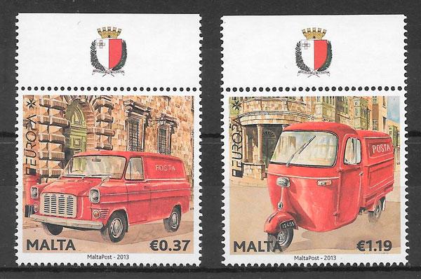 colección sellos Europa Malta 2013