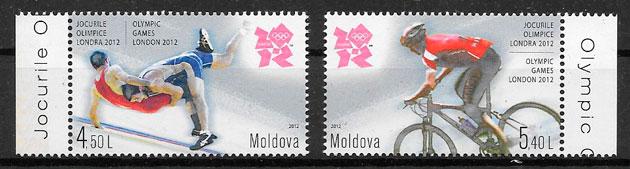 filatelia colección olimpiadas Moldavia 2012