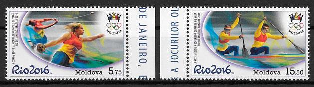 sellos olimpiadas Moldavia 2016