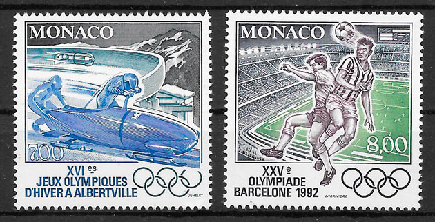 coleccion sellos olimpiadas Monaco 1992