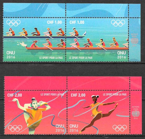 filatelia colección olimpiadas Naciones Unidas Genova 2016