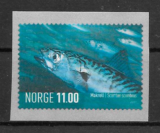 colección sellos fauna Noruega 2007