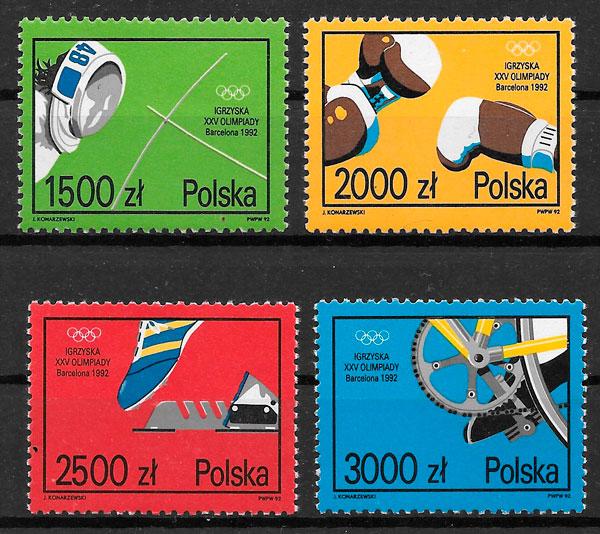 filatelia coleccion olimpiadas Polonia 1992