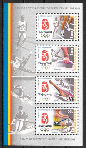 sellos olimpiadas Rumania 2008