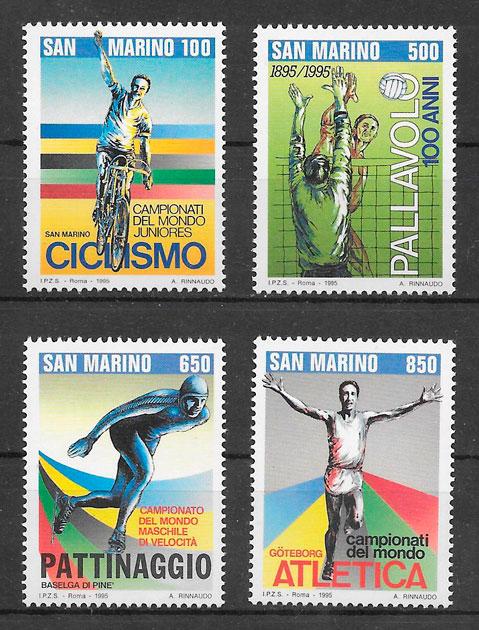 filatelia deporte San Marino 1995