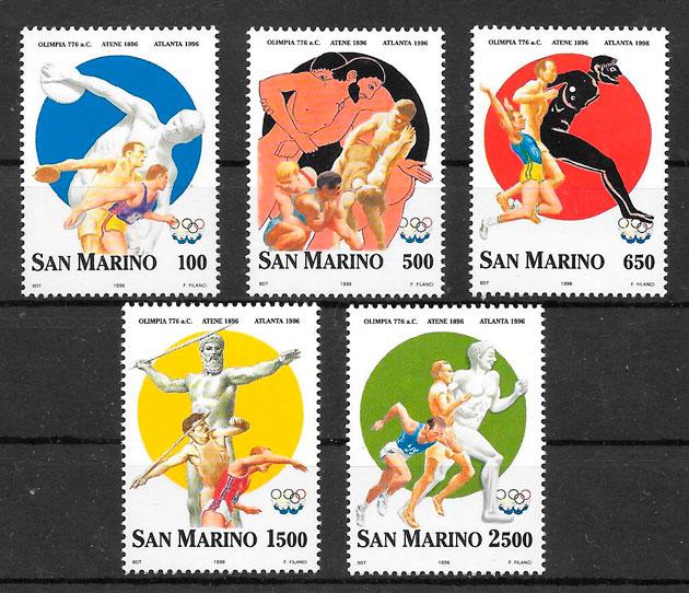 colección sellos deporte San Marino 1996